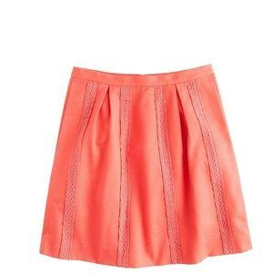 ❤️ J.Crew Skirt Lace-Stripe Link A-Line size 4